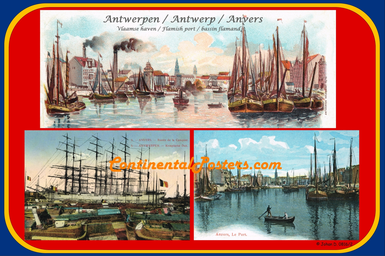 Antwerpen Antwerp Anvers Habor Haven poster Vs B C 115 cp