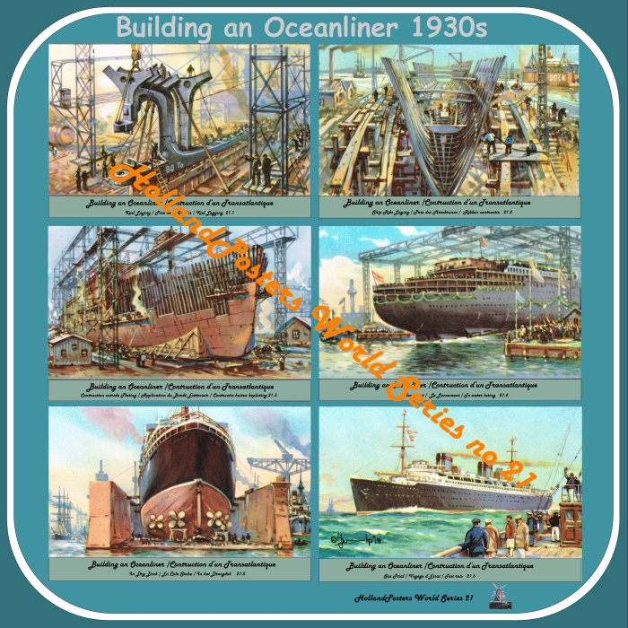 Building an Oceanliner 1930 HP WS 21 English, French and Dutch