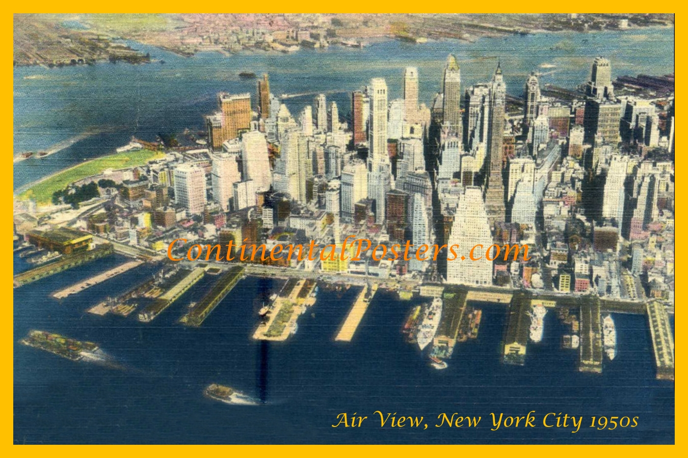 New York City CA 69  air view 1950s 3 2