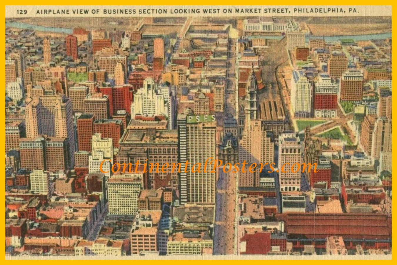 Philadelphia 1950s Air View CA 70,  3 2