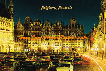 Brussels Belgium  by night CA 63