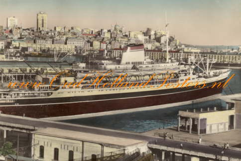 Christoforo Colombo cruiseship 1953 - 1981 harbour of Genova 3 2 b