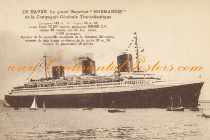Paquebot Normandie 1932, steamship poster