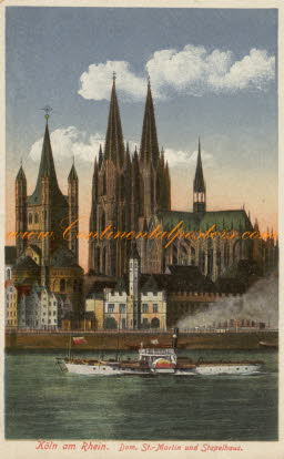 Old Cologne about 1910,  Alt Koln am Rhein mit Dom