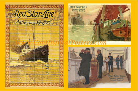 Red Star Steamship poster 1  C 120 cp