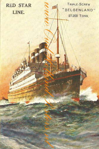 belgenland steamship red star poster