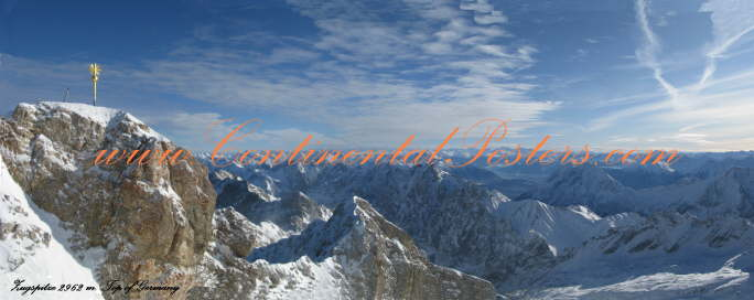 Top of Germany Panorama Poster, Zugspitze 2962 m