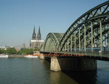 Dom Cologne Germany and bridge