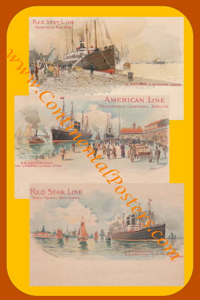 red star steamer poster 4 C 123 cp