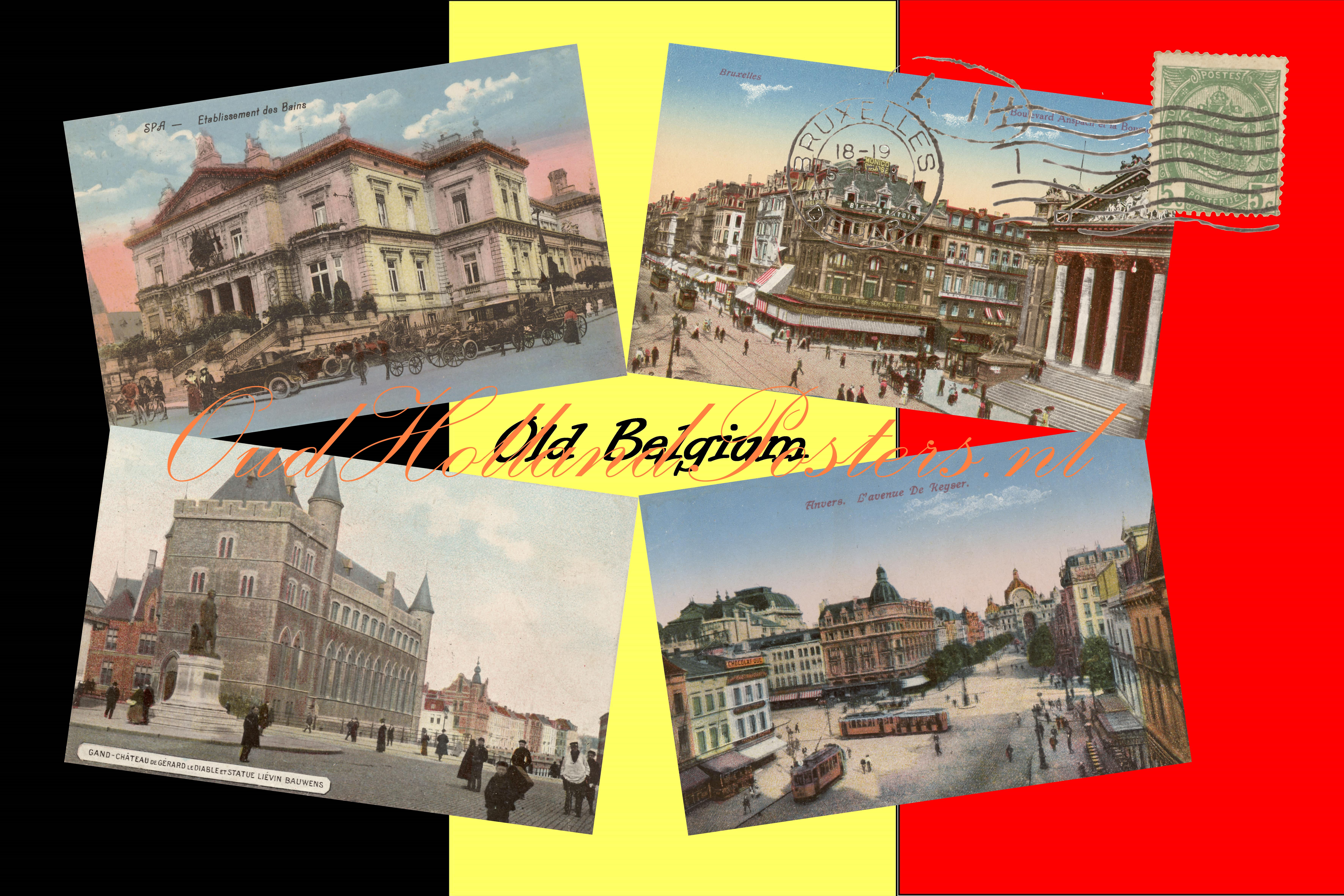 old belgium 2 , with Brusels, Antwerp, Gent and Spa