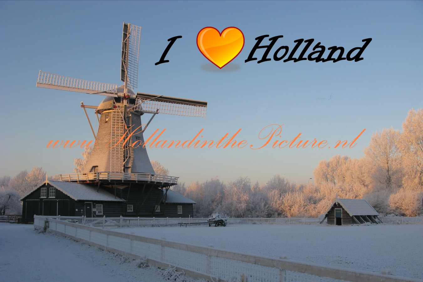 I Love Holland Wintertime, Windmill  HP F 20 kl