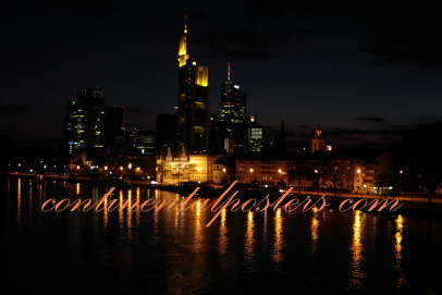 Skyline Frankfurt am Main Germany poster