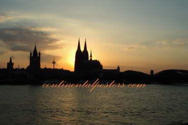 Koln, Cologne skyline Germany poster