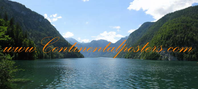 Konigsee highest lake of Germany poster