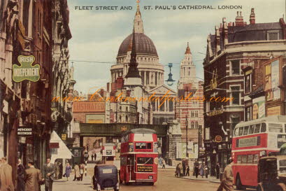 Old London fleet street and st Paul's